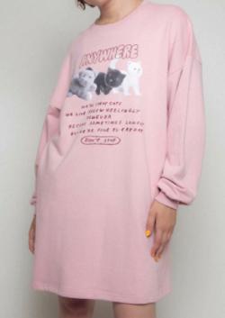 おかえりモネ・恒松祐里(すーちゃん) 衣装ピンクのロングTシャツ