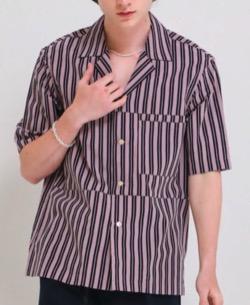 彼女はキレイだった(かのきれ) 赤楚衛二(樋口拓也)ドラマ衣装パープルのストライプシャツ