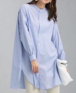 【おかえりモネ】清原果耶衣装ストライプのロングシャツ