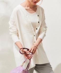 第9話【推しの王子様(おしプリ)】比嘉愛未(日高泉美)ドラマ衣装白いツインニット
