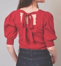 【zip】貴島明日香アナ衣装(ニット・スカート)のブランドはこちら♫(2021/9/17)赤い半袖ニット
