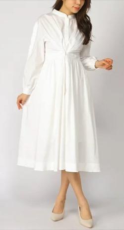 ZIP貴島明日香衣装白いロングワンピース