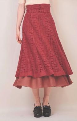 【zip】貴島明日香アナ衣装(ニット・スカート)のブランドはこちら♫(2021/9/17)赤いレースフレアスカート