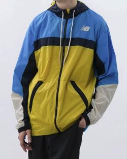 ブルーxイエローのライトジャケット