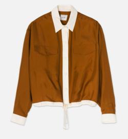 恋です(ヤンガル)・奈緒ドラマ衣装ブラウンのシャツブラウス