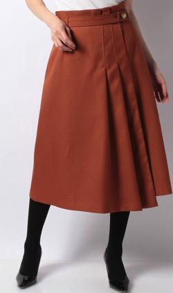 ブラウンのアシメスカート