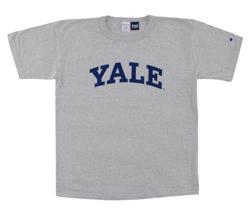 グレーのロゴTシャツ