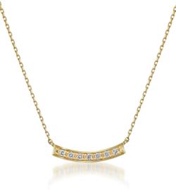 ゴールドxダイヤのラインネックレス