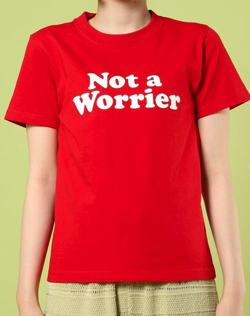 レッドのロゴTシャツ