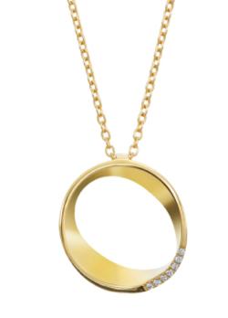 ゴールドxダイヤのネックレス