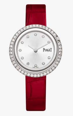 レッドxシルバーの腕時計