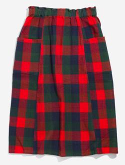レッドxグリーンのチェック柄スカート