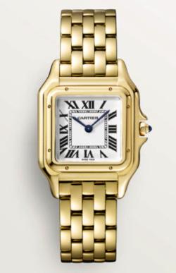 ゴールドの腕時計