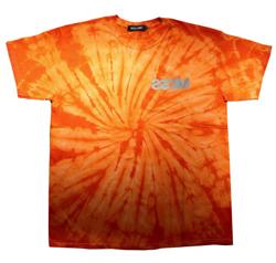 オレンジのタイダイ柄Tシャツ