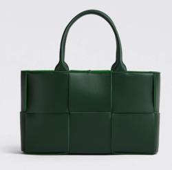 グリーンのトートバッグ