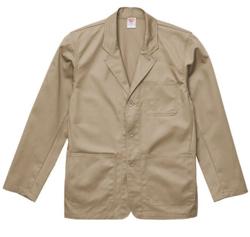 ベージュのワークジャケット