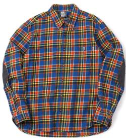 カラフルチェック柄シャツ