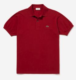 レッドのポロシャツ