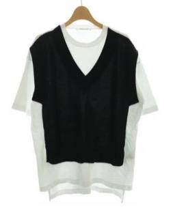 黒いベストドッキングTシャツ