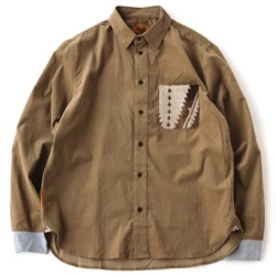 【細田佳央太】ブラウンの長袖シャツ